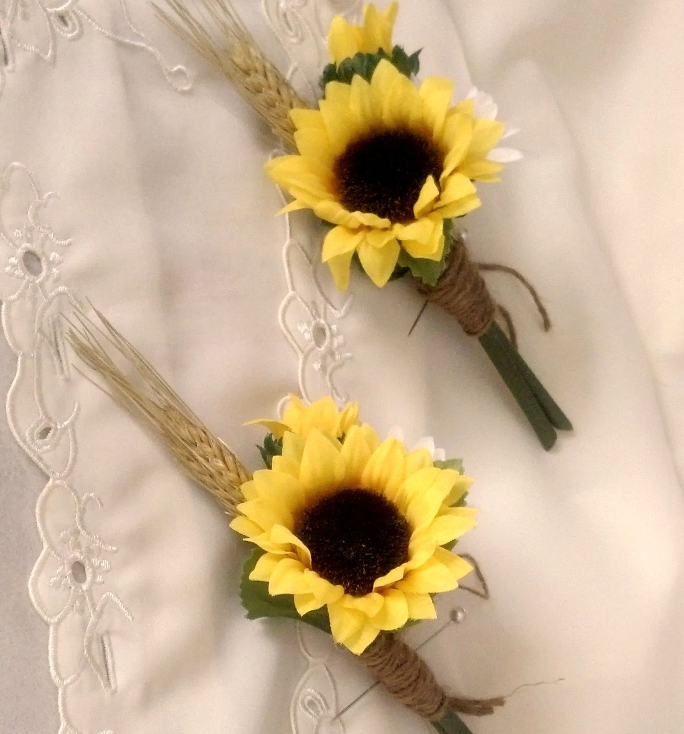 Wedding bouquets of sunflowers  Flowers for the guys   Wedding  Pinterest  The guys For