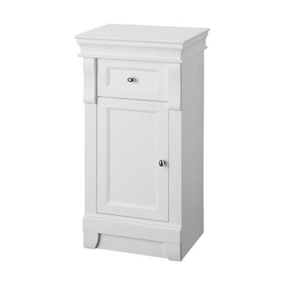 Foremost Naples 34 In. H X 16 3/4 In. W X 14 1/2 In. D Bathroom Linen  Storage Floor Cabinet In White