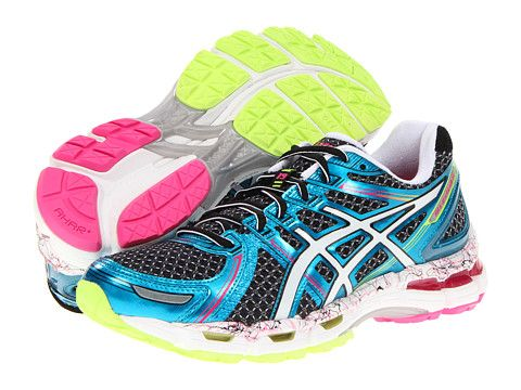 ASICS GEL-Kayano 19™ Black/White/Flash Pink - Zappos.com