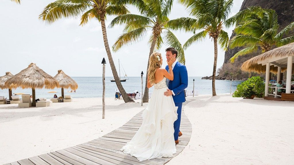 Kelley Ferro Wedding At Sugar Beach Cermony Saint Lucia Weddings Pinterest St And