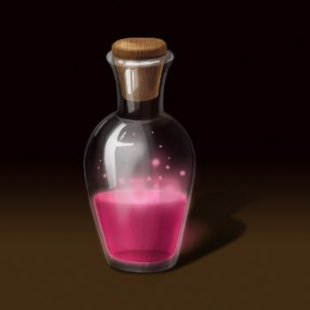 bottle of magic potion by AgathNevi on DeviantArt   Magical