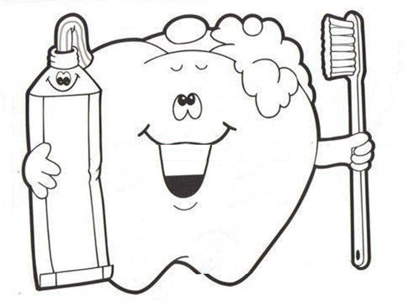 Okul öncesi Diş Sağlığı Boyamaları Boyama Sayfaları 科学
