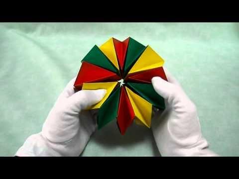 折り紙 万華鏡 24枚