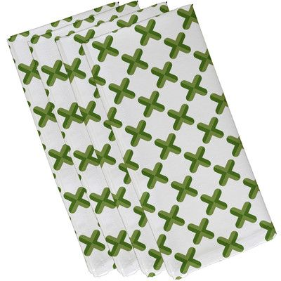Zipcode Design Elaine Criss Cross Napkin Color: Green