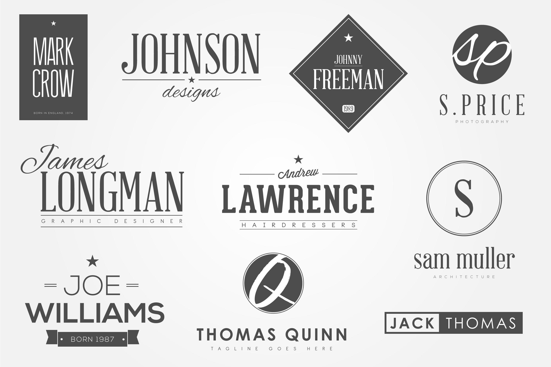 10 Personal Name Logos Name Logo Personal Logo Logo Bundle
