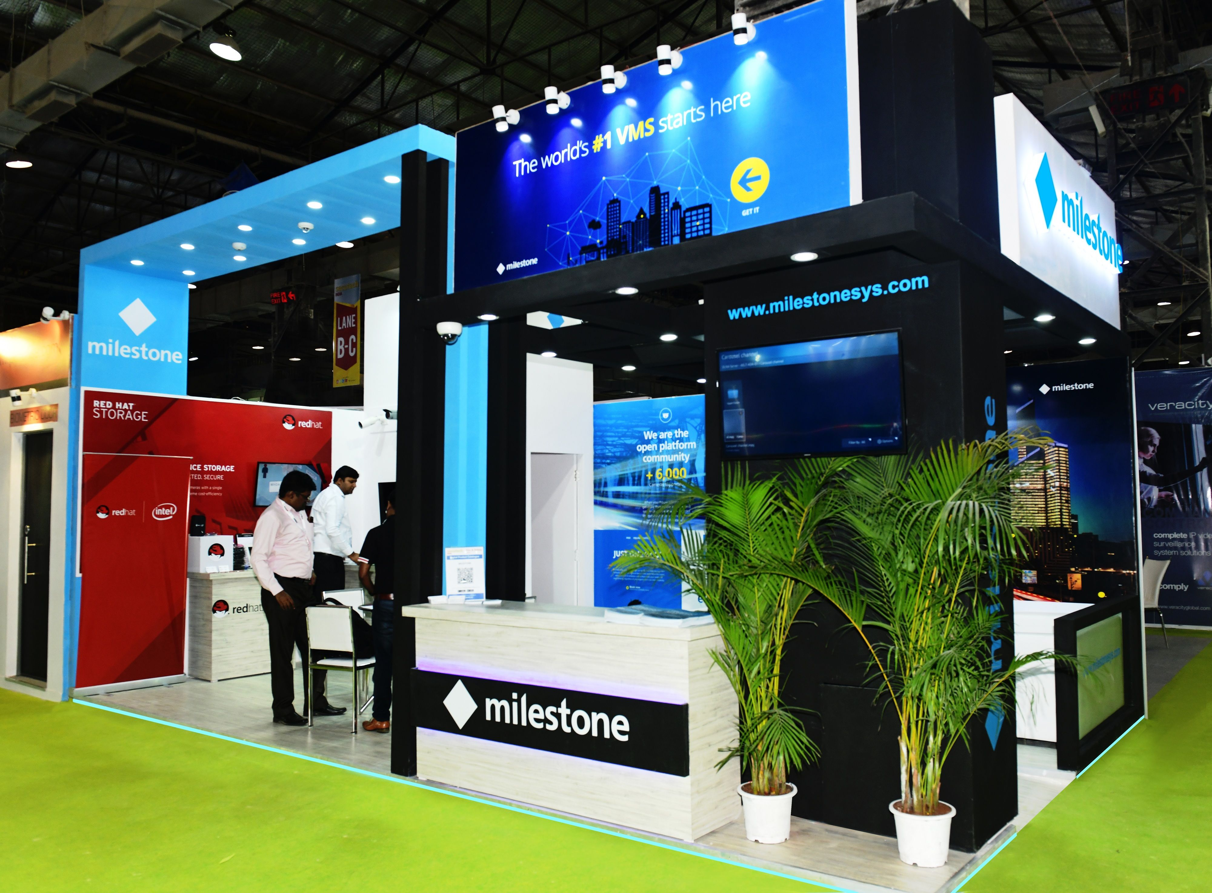 Get inspired by this modern exhibition stall design developed by Panache Exhibitions for Milestone at Secutech Mumbai 2018.  #exhibition #stalldesign #milestone #panacheexhibitions #standbuilders #exhibitiondesign #exhibitions #exhibitionstand #secutechmumbai2018 #exhibitionbooth