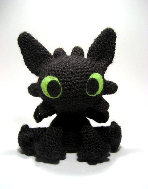 Crochet Amigurumi Dragon Toothless Nähen Pinterest Ohnezahn