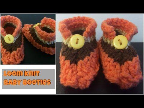Loom Knit Socks Baby Booties No Holes No Bulk Step By Step