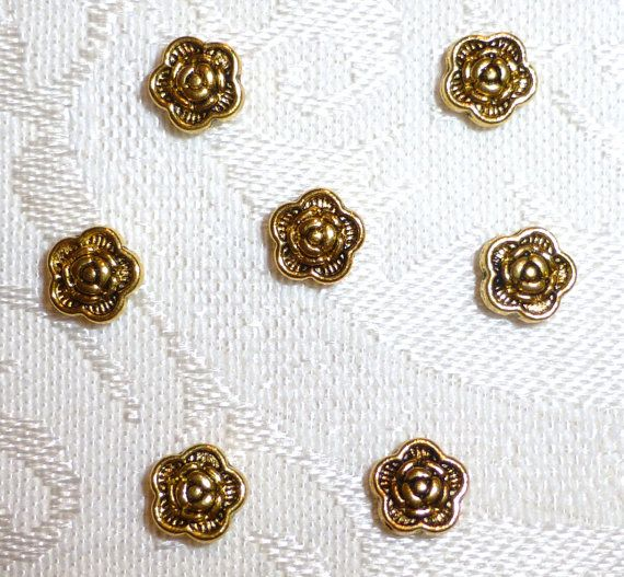 6mm X 3mm Goldtone Flower Spacer Beads  50 in by JerseyShoreBeads, $3.00