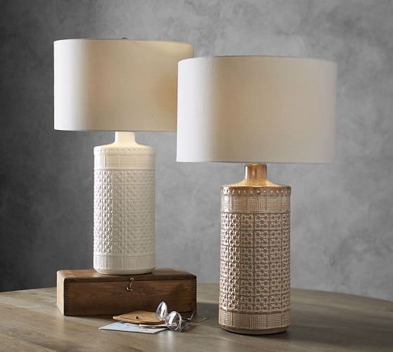 Jamie Young Emma Ceramic Column Table Lamp Potterybarn In 2020