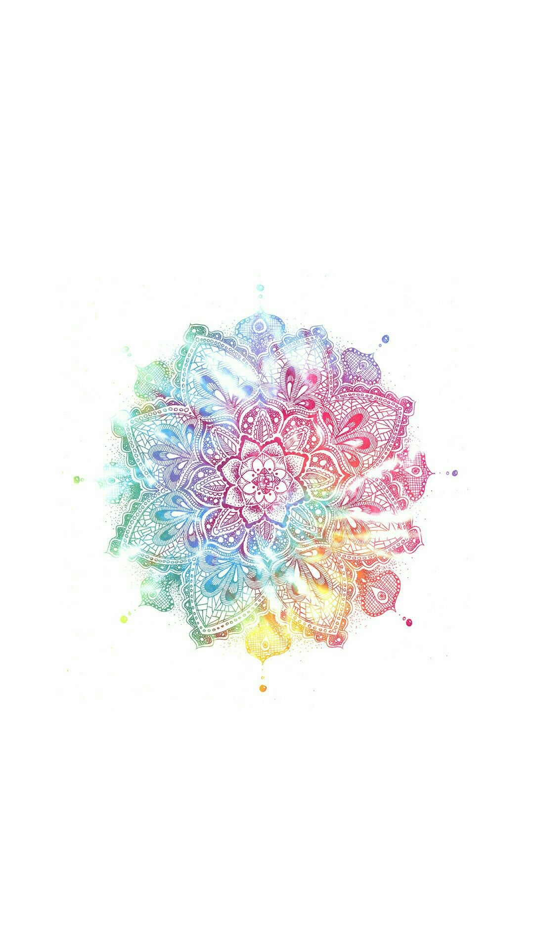 Mandala Wallpaper Lockscreen Colorido Wallpapers Pinterest