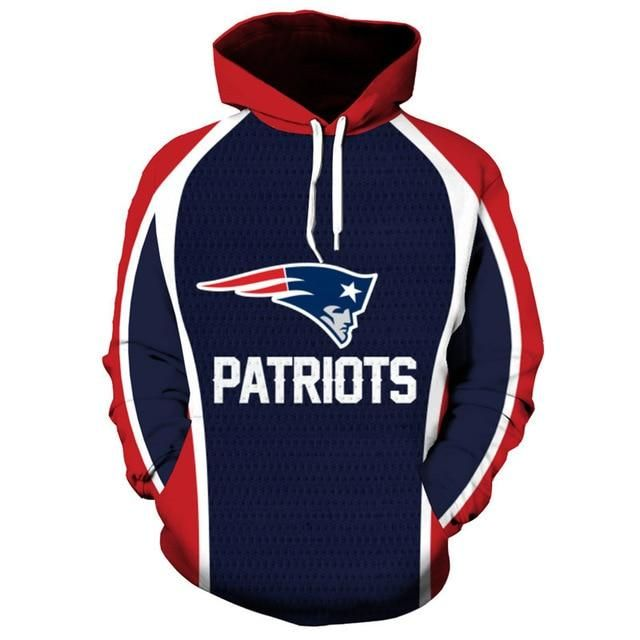 65971285 NFL Football New England Patriots 3D Hoodie Sweatshirt Jacket ...