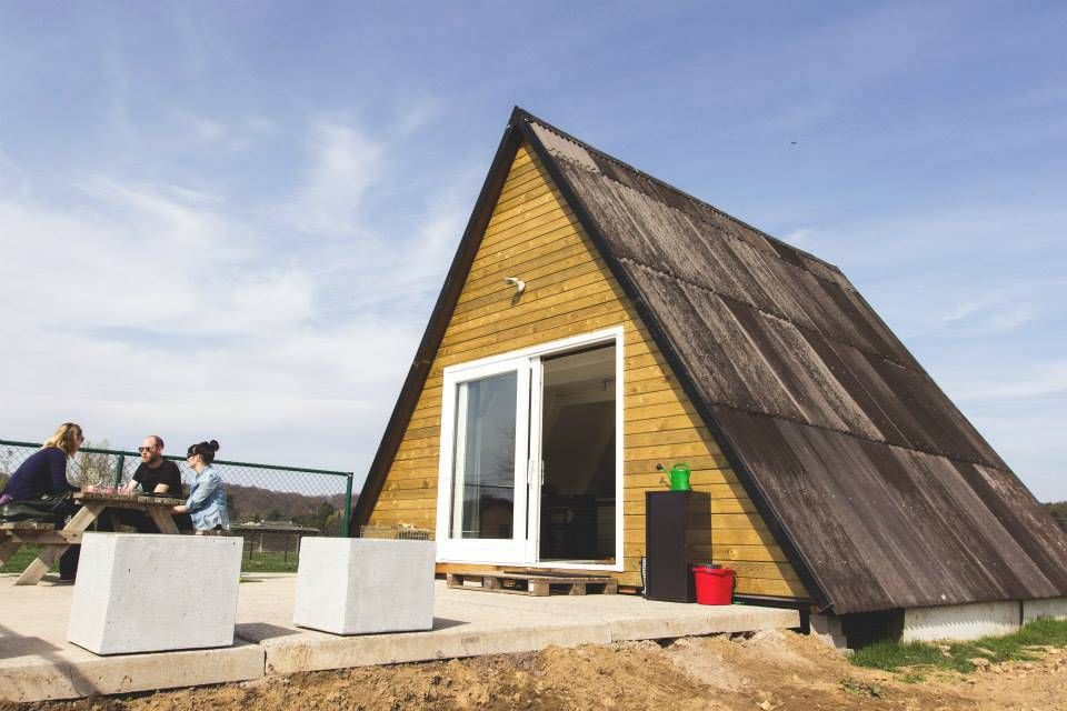 A small A-frame house in Belgium. See more at http://humble-homes ...