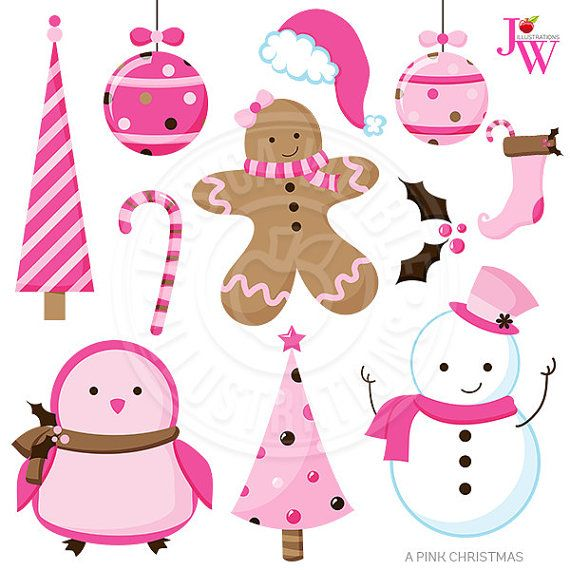 a pink christmas cute christmas digital clipart pink christmas clip rh pinterest com cute christmas clipart png cute christmas clipart free download