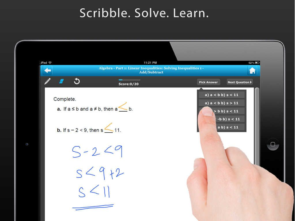 Math Ios Universal Practice Real Math Problems On Your