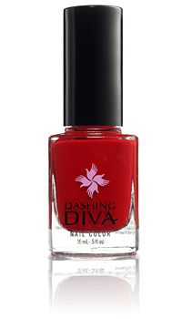 Dashing Diva: The Red Carpet, opaque, fire engine red