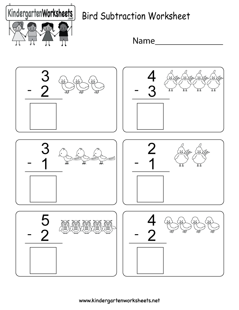 Workbooks subtraction decomposition worksheets : This is a cute bird subtraction worksheet. Kids can use the images ...