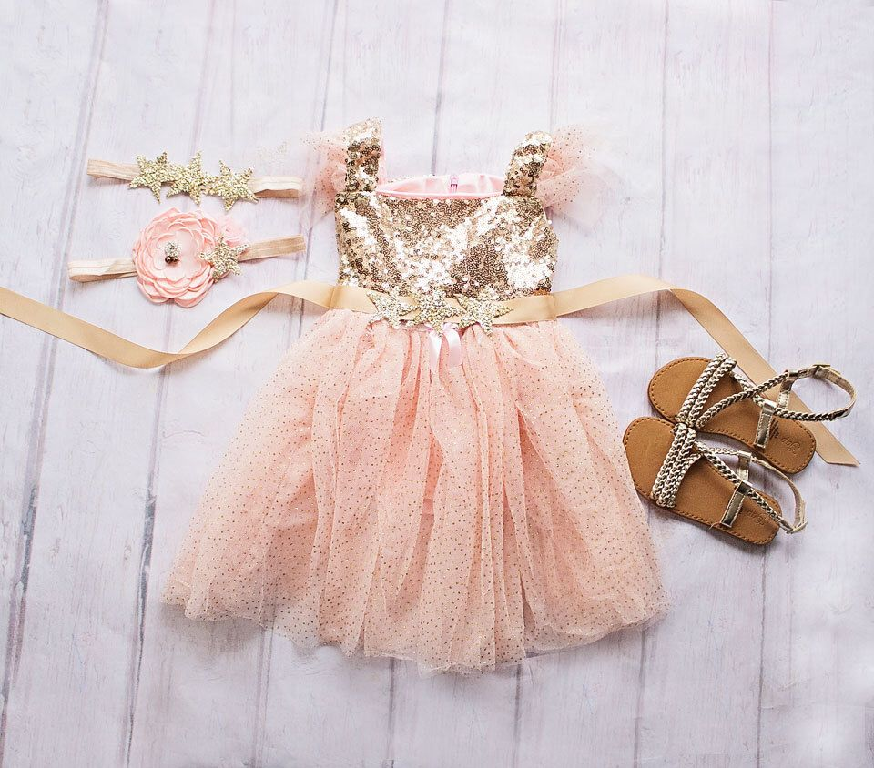 ede1a50b3 Twinkle Twinkle Little Star Birthday Outfit, Birthday Dress, Gold and Pink  Birthday Outfit,