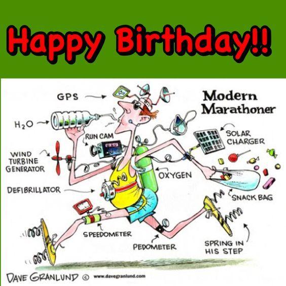 Image Result For Happy Birthday Marathon Runner Happy Birthday Wishes For Him Happy Birthday Meme Happy Birthday Quotes Funny