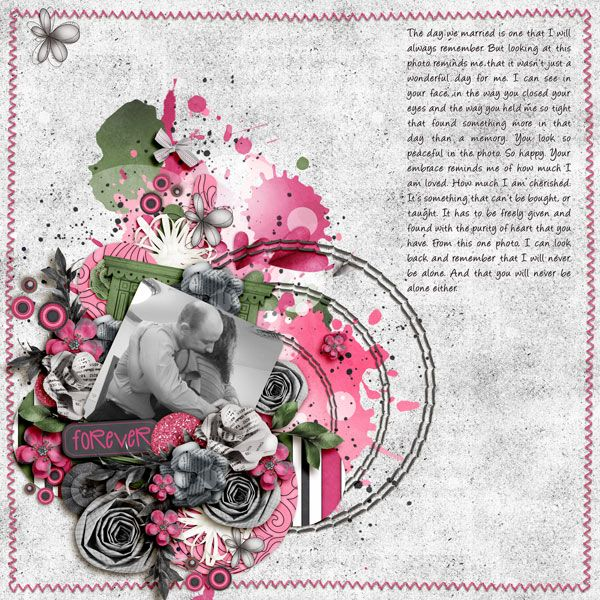 Embrace layout by Scrapaholic09 using Just the Two of Us Kit
