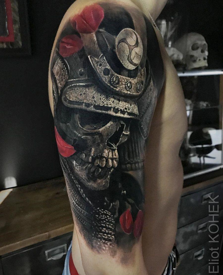 Samurai Skull Samurai Tattoo Cool Forearm Tattoos Samurai Mask