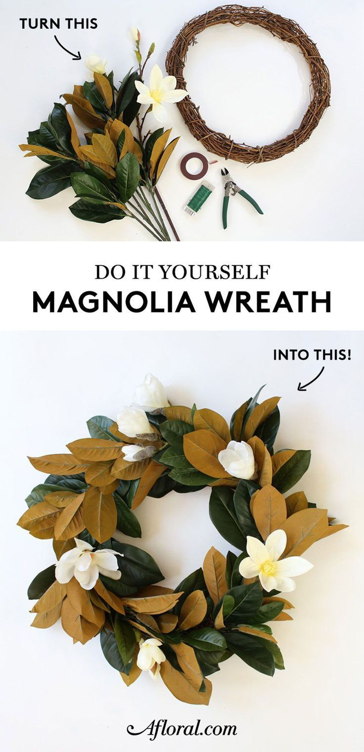 Photo of DIY magnolia wreath