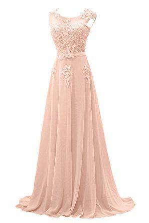 gorgeous bride modisch lang rundkragen alinie chiffon tuell spitze schleppe abendkleider