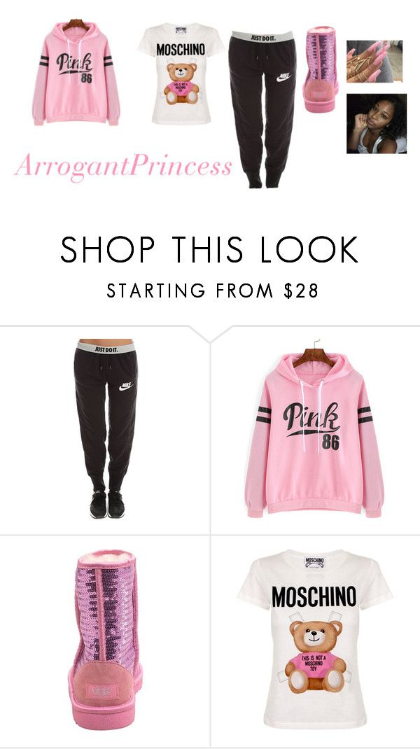 """Untitled #193"" by arrogantprincess on Polyvore featuring NIKE, UGG Australia and Moschino"