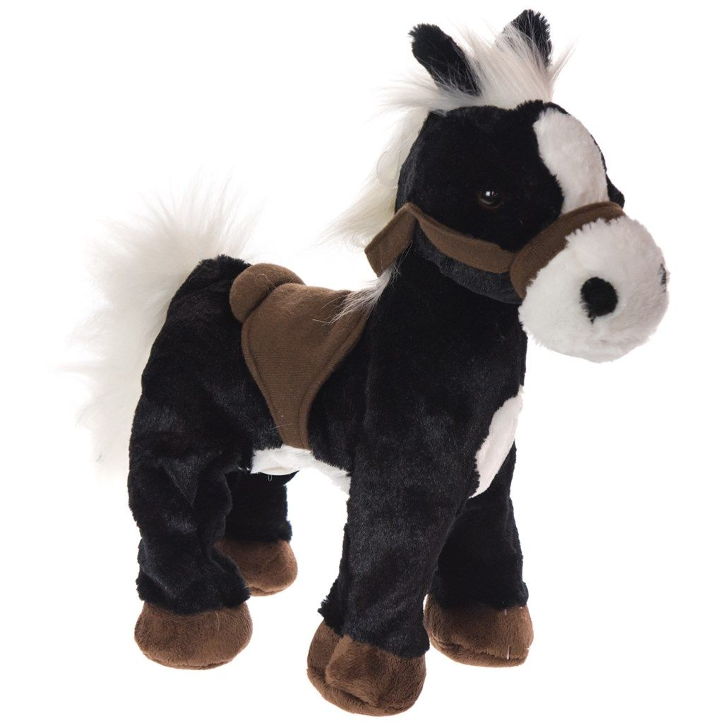 galloping black and white plush horse collections horse