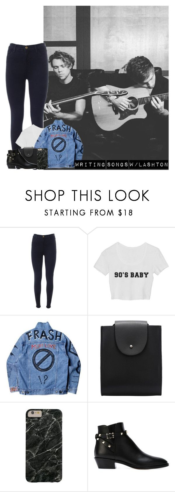 """""""Writing Songs W/Lashton"""" by hana-69 ❤ liked on Polyvore featuring J Brand, Valentino, women's clothing, women's fashion, women, female, woman, misses and juniors"""