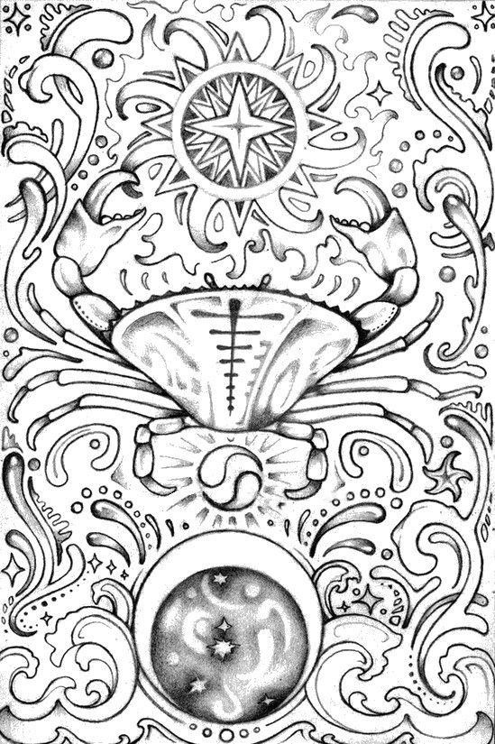 cancer zodiac adult colouring