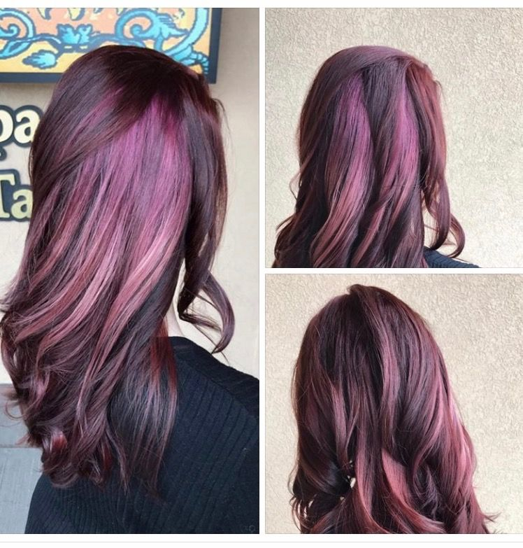Megan used Aveda's deep spectrum color line for these peek a boo highlights, with magenta ombréd into bubble gum pink! #tuscansunspa #tuscansunspaandsalon #thesalonattuscan #aveda #avedacolor #avedasalon #avedadeep #avedadeepcolor #fullspectrumdeep #peekaboo #peekaboohighlights #highlights #ombrehair #modernsalon #behindthechair