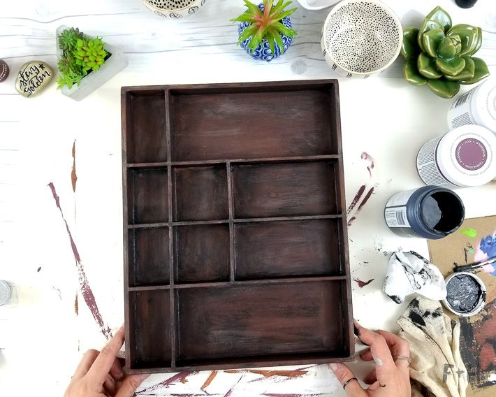 How To DIY a Faux Letterpress Tray with DecoArt |
