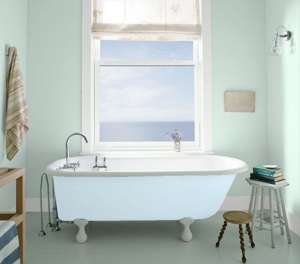 Benjamin moore palladian blue bathroom - Bathroom 1 Palladian Bluebathroom