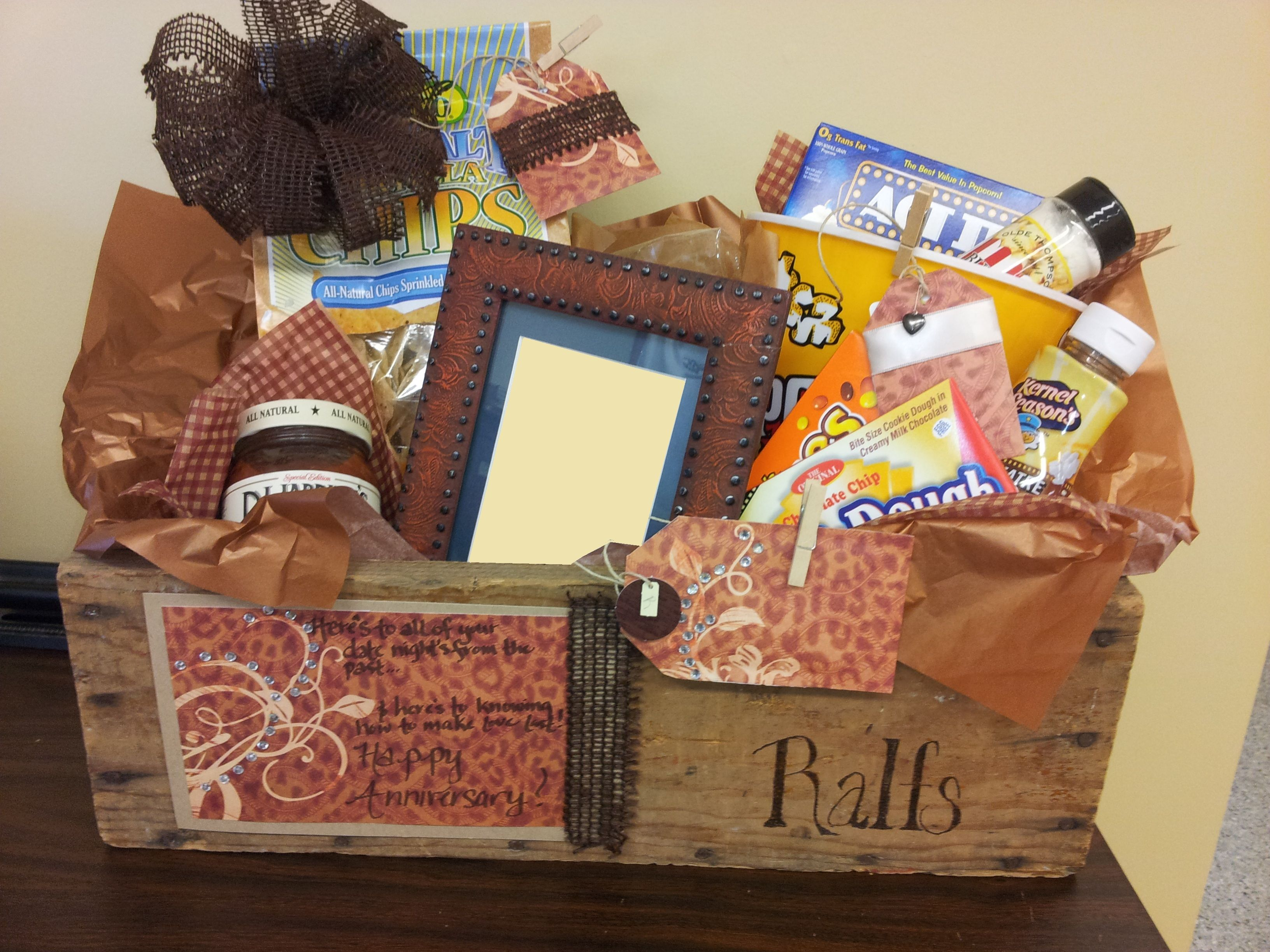 a gift basket i did it s called date night it is for an