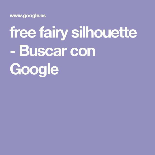 free fairy silhouette - Buscar con Google