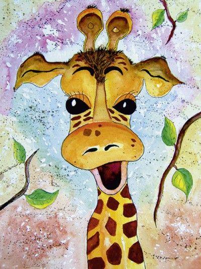 siegfried2838 giraffe gisela tiere zeichnungen gemalt kinderzimmer bilder painting for kids. Black Bedroom Furniture Sets. Home Design Ideas