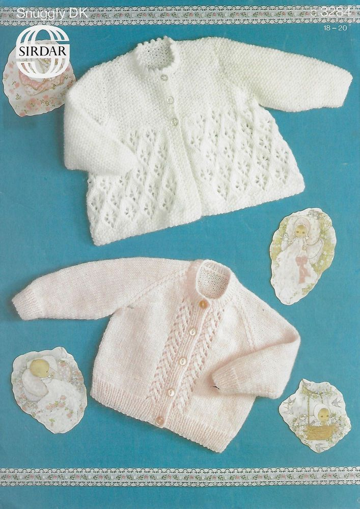 Baby Cardigan & Matinee Coat Sirdar 3284 knitting pattern DK yarn ...