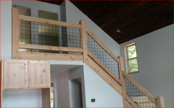Image Result For Hog Wire Interior Stair Railing Railing