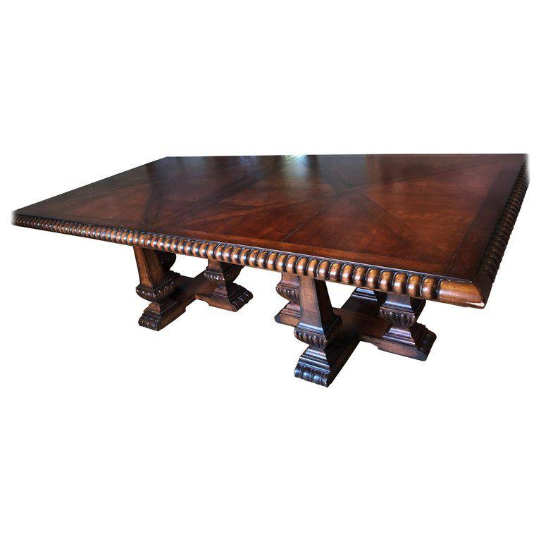 Palatial Ralph Lauren Huge Marseilles Parquetry Dining Table For Sale Dining Table Dining Table