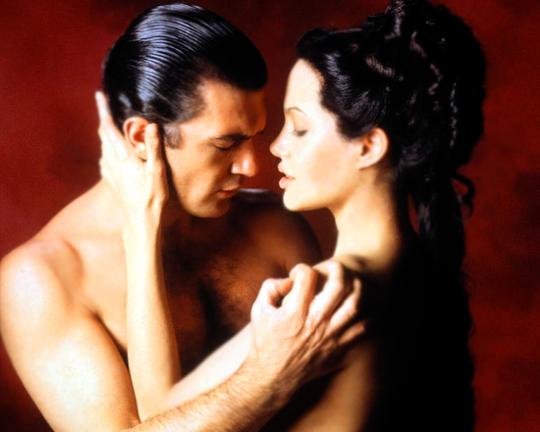 """unclefincher: """"Antonio Banderas and Angelina Jolie for Original Sin, 2001 """""""
