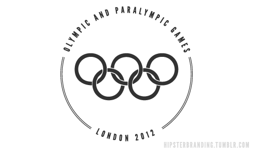 Olympics #hipsterBranding #FamousLogosRedesigned
