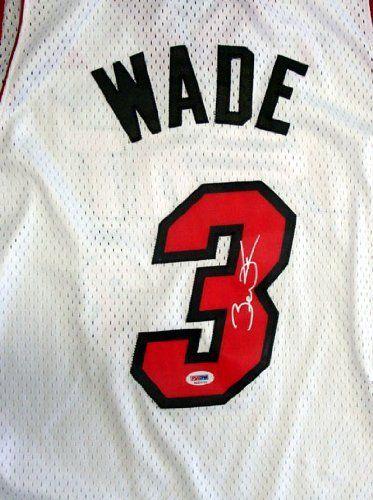 reputable site e66d5 b9f4c Dwyane Wade Autographed Miami Heat Swingman Jersey PSA/DNA ...