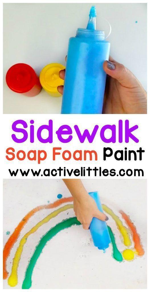 DIY Soap Foam Sidewalk Paint  Active Littles  DIY Soap Foam Sidewalk Paint  Active Littles