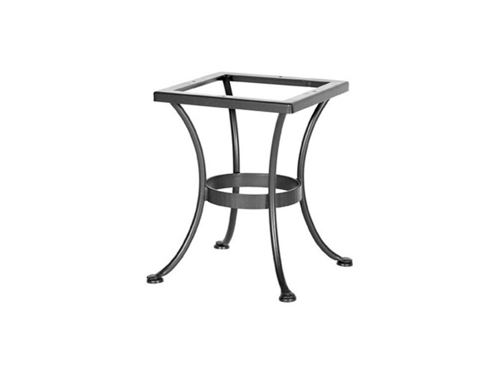 Charming OW Lee Wrought Iron Round End Table Base OWST01BASE Wrought Iron Bases  Collection By OW Lee