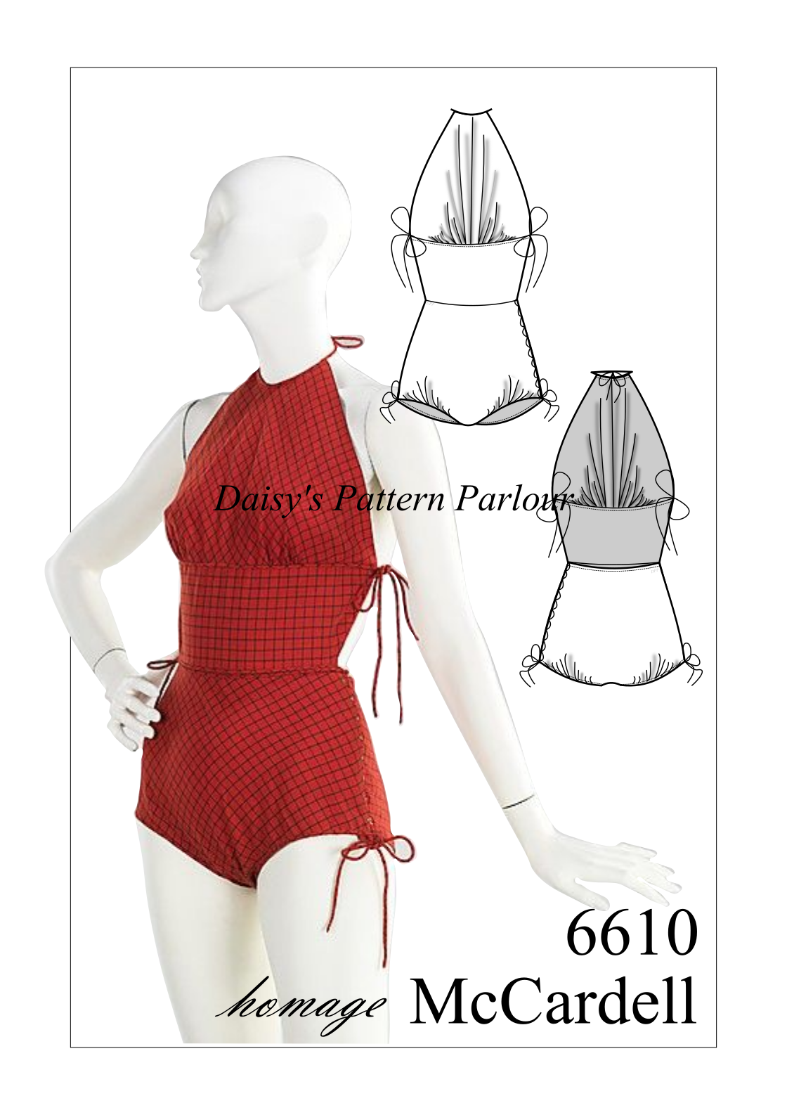 Vintage Sewing Pattern 1950 Bathing Suit Bather Swimsuit Costume ...