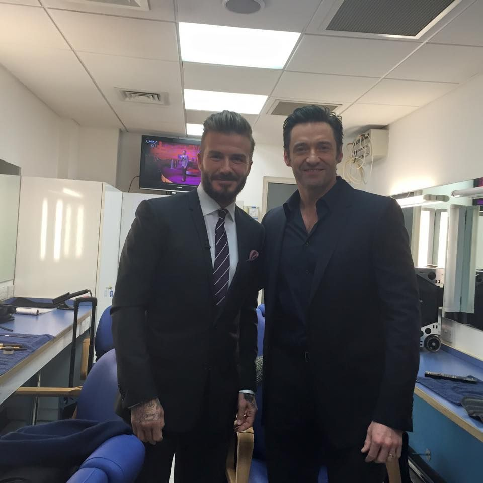 With my mate David Beckham at the Graham Norton show taping tonight!!