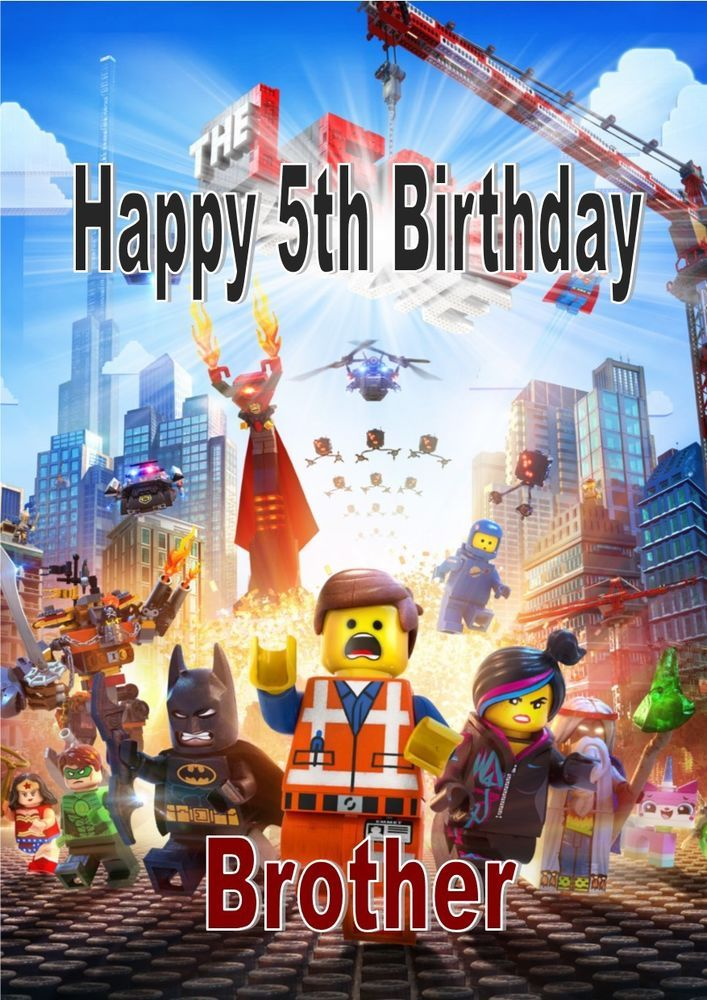 Personalised Birthday Card Lego Theme 2 Katiebeths Alloccasions