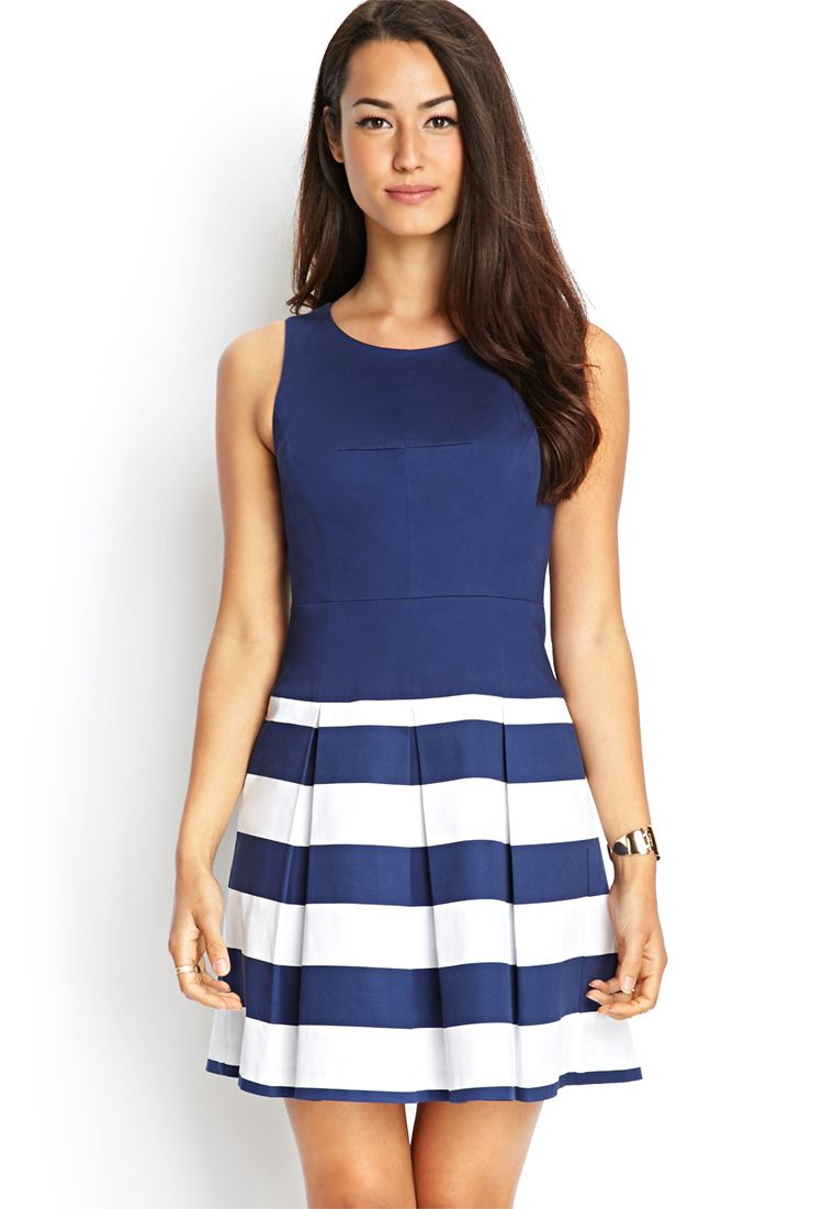 Striped Combo Dress | FOREVER21 #F21Contemporary