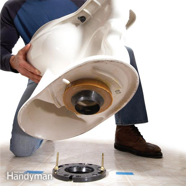 How to Replace a Toilet Toilet installation, Carpet